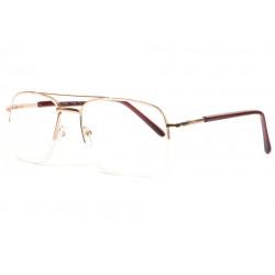 Grandes lunettes de Lecture Dorees Métal Fashion Azmo Lunettes Loupes Proloupe