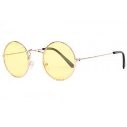 Petites Lunettes Soleil Jaunes Rondes Fashion Beatly LUNETTES SOLEIL Eye Wear
