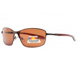 Lunettes Polarisees Marrons Metal Design Sport Feck LUNETTES SOLEIL Eye Wear
