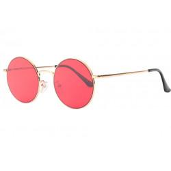 Lunettes de Soleil Ronde Rouges et Dorees tendance Obladi LUNETTES SOLEIL Eye Wear