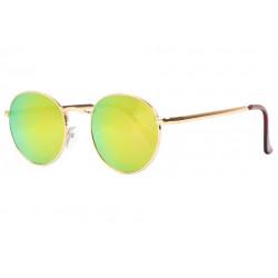 Lunettes de soleil Miroir Rondes Jaunes Tendance Folky LUNETTES SOLEIL Eye Wear