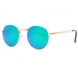 Lunettes de soleil Miroir Bleues Rondes Tendance Folky LUNETTES SOLEIL Eye Wear