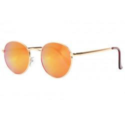 Lunettes de soleil Miroir Orange Rondes Tendance Folky LUNETTES SOLEIL Eye Wear