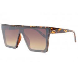 Grandes lunettes soleil Marron Ecailles Lookees Design Fyva LUNETTES SOLEIL Eye Wear