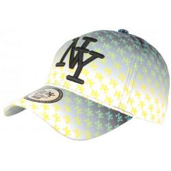 Casquette NY Jaune et Noire Fashion Print New York Baseball Avenue CASQUETTES Hip Hop Honour