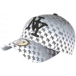 Casquette NY Blanche et Noire Fashion Print New York Baseball Avenue CASQUETTES Hip Hop Honour