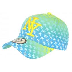Casquette NY Jaune et Bleue Fashion Print New York Baseball Avenue CASQUETTES Hip Hop Honour