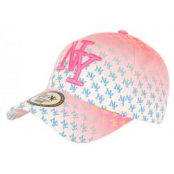 Casquette NY Rose et Bleue Fashion Design New York Baseball Avenue CASQUETTES Hip Hop Honour