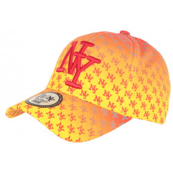 Casquette NY Orange Streetwear Fashion Print New York Baseball Avenue CASQUETTES Hip Hop Honour