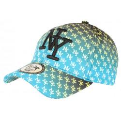 Casquette NY Bleue et Jaune Streetwear Print New York Baseball Avenue CASQUETTES Hip Hop Honour