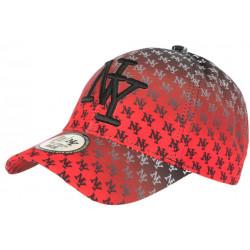 Casquette NY Rouge et Noire Streetwear Print New York Baseball Avenue CASQUETTES Hip Hop Honour
