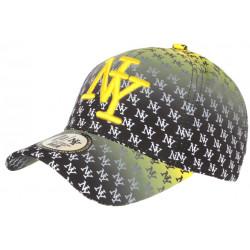 Casquette NY Noire et Jaune Fashion Design New York Baseball Avenue CASQUETTES Hip Hop Honour
