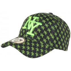 Casquette NY Vert Fluo et Noire Design New York Fashion Baseball Avenue CASQUETTES Hip Hop Honour