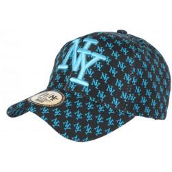 Casquette NY Bleue et Noire Print New York Fashion Baseball Avenue CASQUETTES Hip Hop Honour