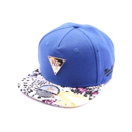 Casquette Strapback NY bleu avec visière Leopard