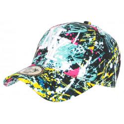 Casquette NY Bleue et Noire Fashion Tags Streetwear Baseball Grafty CASQUETTES Hip Hop Honour