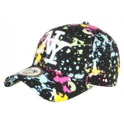 Casquette NY Noire et Rose Fashion Tags Streetwear Baseball Grafty CASQUETTES Hip Hop Honour