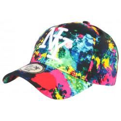 Casquette NY Rouge et Noire Design Tags Streetwear Baseball Grafty CASQUETTES Hip Hop Honour