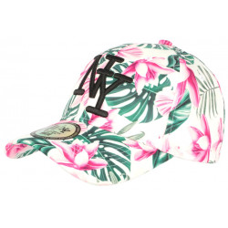 Casquette NY Blanche Fleurs Roses Fantaisie Baseball Phuket CASQUETTES Hip Hop Honour
