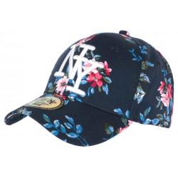 Casquette NY Bleue Fleurs Rouges Fantaisie Baseball Phuket CASQUETTES Hip Hop Honour