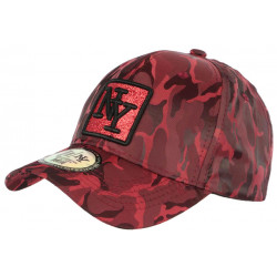 Casquette NY Camouflage Strass Rouge Fashion Baseball Fashly CASQUETTES Hip Hop Honour