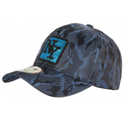 Casquette NY Militaire Strass Bleue Fashion Baseball Fashly CASQUETTES Hip Hop Honour