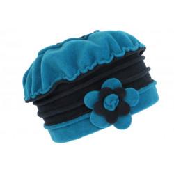 Bonnet Beret Femme Bleu et Marine Polaire Deperlante Hiver Classe Syllia CHAPEAUX Léon montane