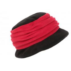 Beret Bonnet Femme Rouge et Noir Chapeau Polaire Déperlante Hiver Lylya CHAPEAUX Léon montane