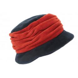 Beret Bonnet Femme Bleu et Orange Chapeau Polaire Déperlante Hiver Lylya CHAPEAUX Léon montane