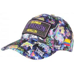 Casquette El Patron Violette et Bleue Strass Streetwear Colombia Medellin Baseball CASQUETTES SKR