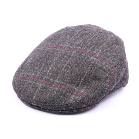 Casquette Plate Hereford Tweed gris bleu taille 57