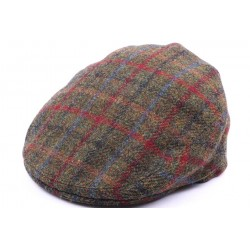 Casquette Plate Hereford Tweed Vert, bleu taille 58