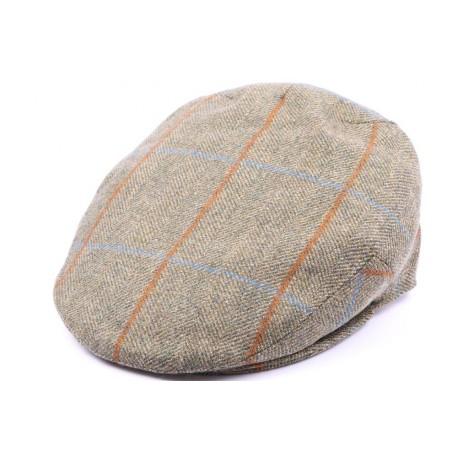 Casquette Plate Kinloch Tweed Vert, Marron Taille 57
