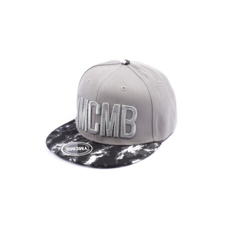 Casquette Snapback YMCMB grise visière armée