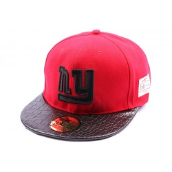 Snapback JBB Couture Rouge avec logo NY noir CASQUETTES JBB COUTURE