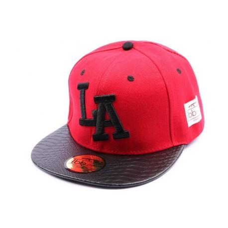 Snapback JBB Couture Rouge avec logo LA