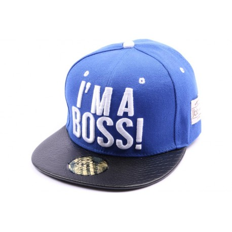 Snapback JBB Couture bleu I'm a Boss