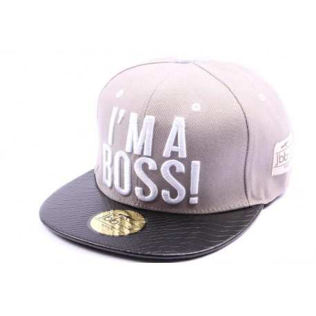 Snapback JBB Couture Grise I'M A BOSS