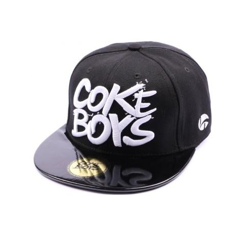 Snapback Coke Boys Noir visière vinyle noir