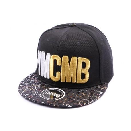 Snapback YMCMB Noir avec visière écailles