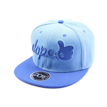 Casquette Snapback Dope bleu