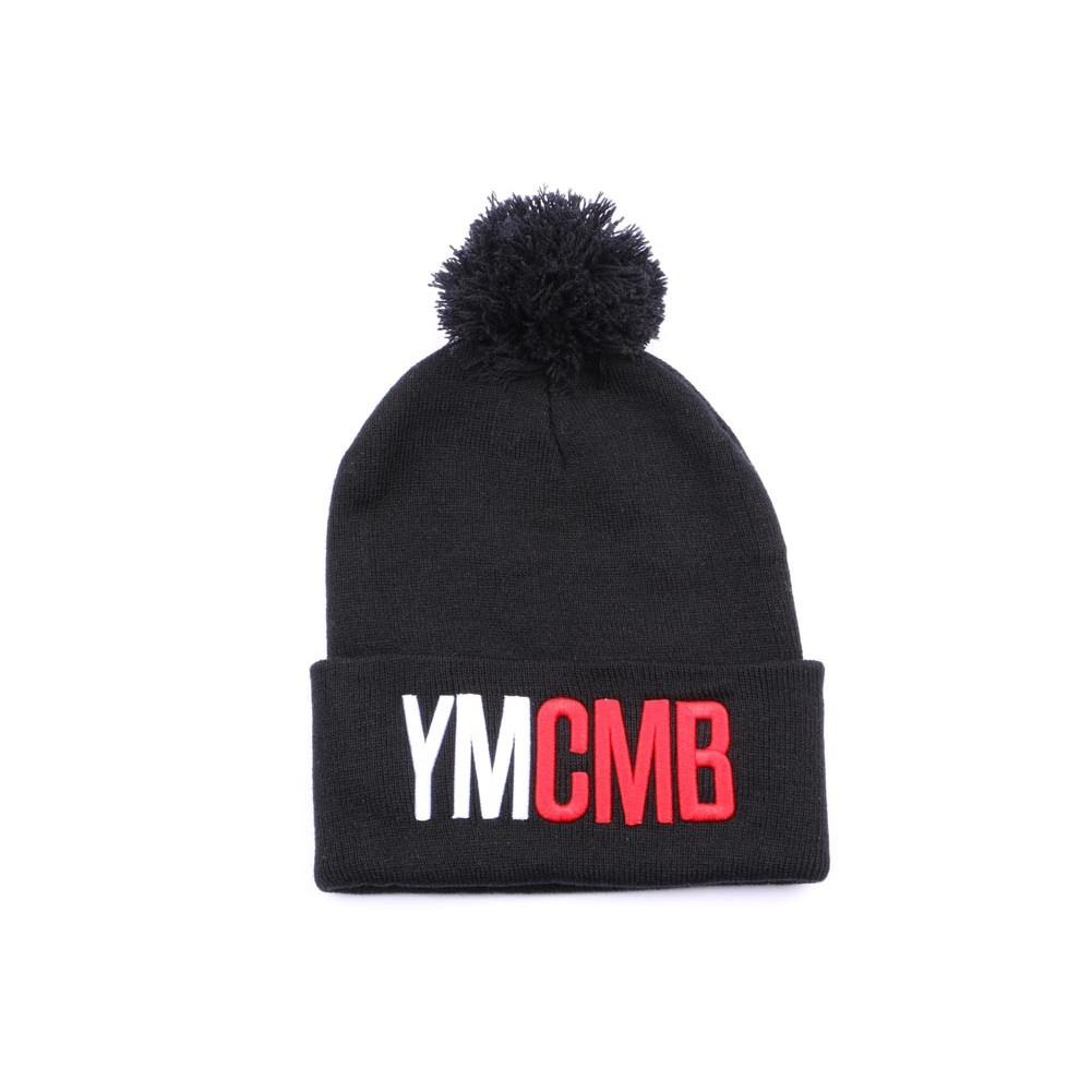 bonnet pompon ymcmb bonnet noir logo ymcmb sur hatshowroom la r f rence headwear. Black Bedroom Furniture Sets. Home Design Ideas