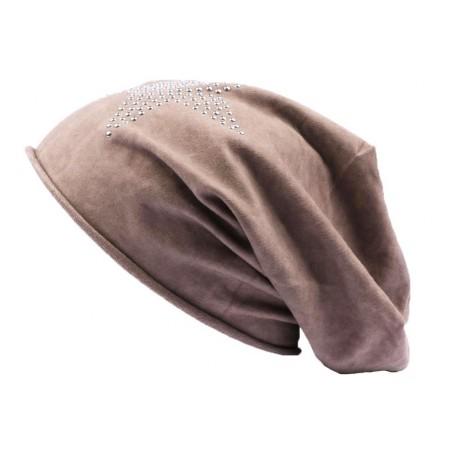 Bonnet JBB Couture Oversize Marron avec étoile
