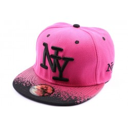 Casquette Snapback NY Rose et tag Noir ANCIENNES COLLECTIONS divers