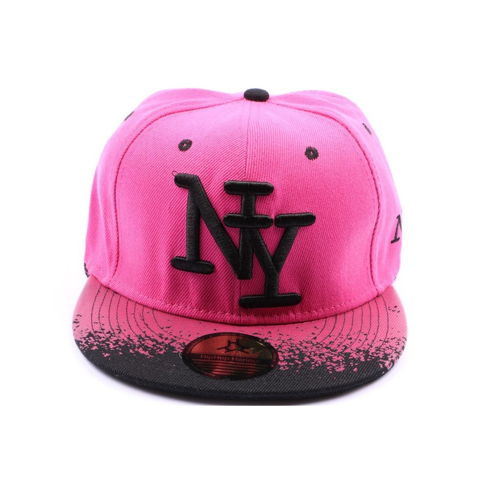 casquette snapback ny rose et tag noir. Black Bedroom Furniture Sets. Home Design Ideas