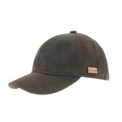 Casquette Baseball Cuir Marron Greg Herman ANCIENNES COLLECTIONS divers