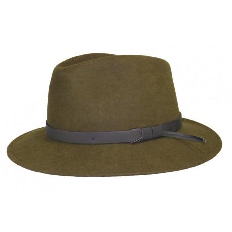 Chapeau feutre Herman Jones Kaki