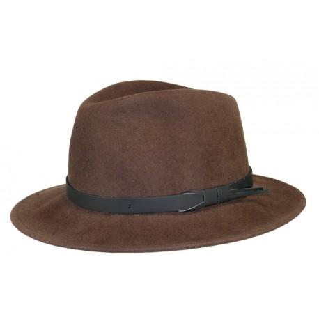 Chapeau feutre Herman Jones Marron