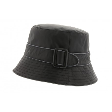 Chapeau Pluie Herman Dora Noir/Gris