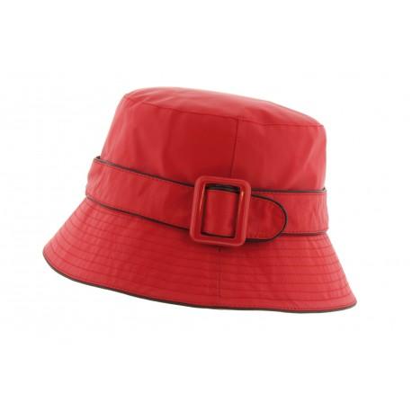 Chapeau pluie Herman Macha Rouge